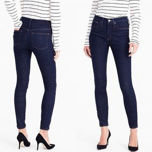 "J.Crew 9"" High Rise Skinny Jeans In Classic Rinse"